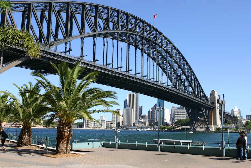 View of Sydney Harbour, Sydney Harbour Bridge and the city of Sydney from Milson's Point.