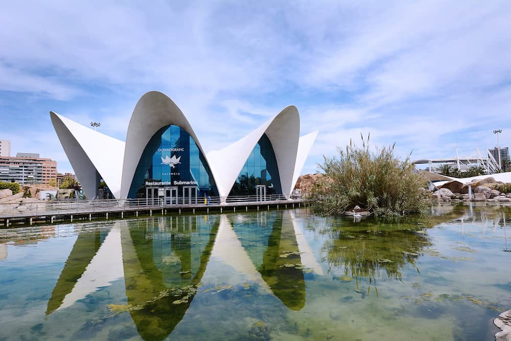 VALENCIA SPAIN - City of the Arts and Sciences in Valencia Spain.