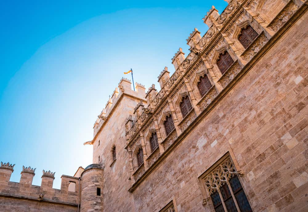Detail of the Lonja de la Seda (Silk Exchange) in Valencia Spain. This UNESCO world heritage site is built in Valencian gothic style.