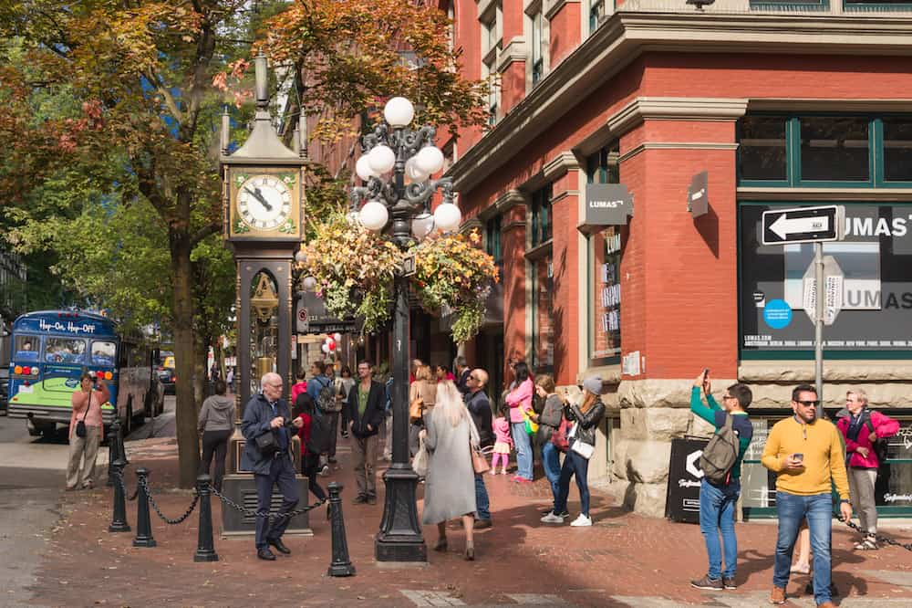 Vancouver, British Columbia, Canada - Steam Clock in Gastown District