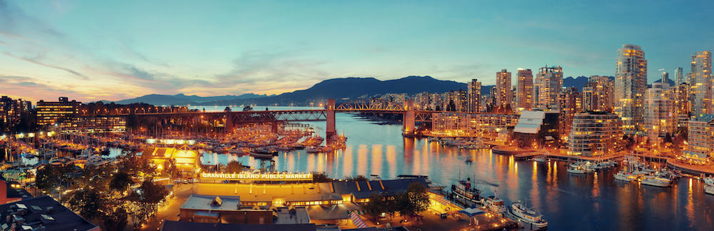 VANCOUVER, BC -: Vancouver bay aerial view in Vancouver, Canada. With 603k population, it is one of the most ethnically diverse cities in Canada.