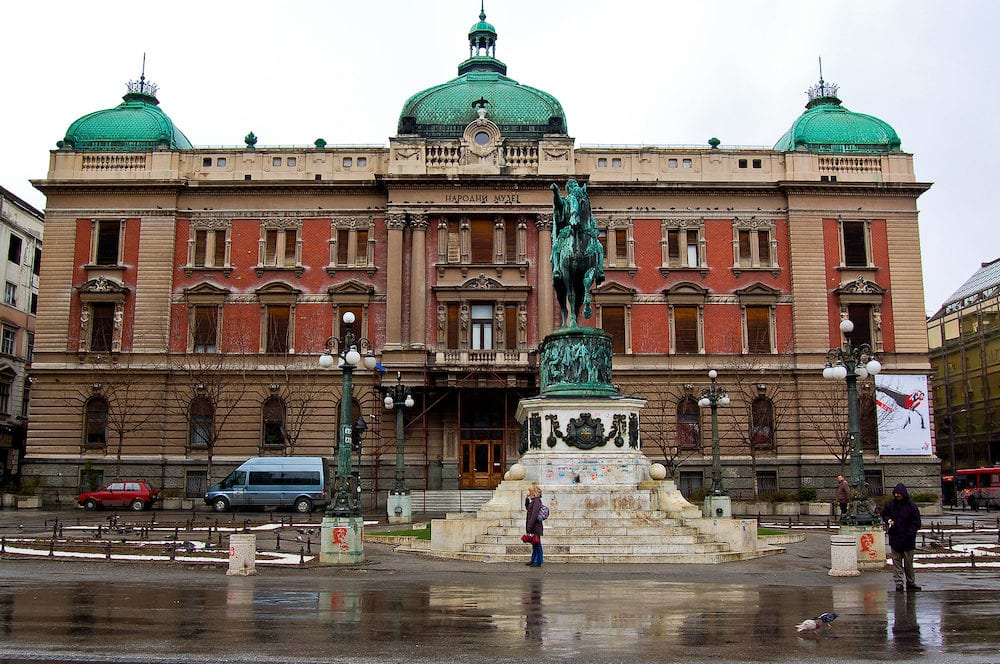 National museum in the city of belgrade serbia