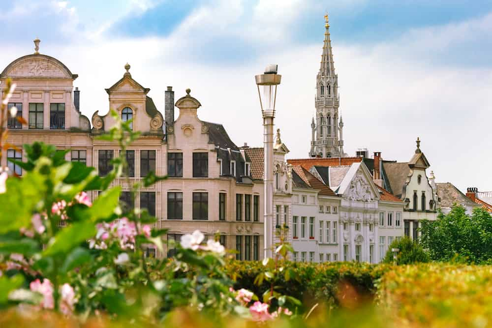 Brussels City Hall in the Old Town of Brussels, Belgium