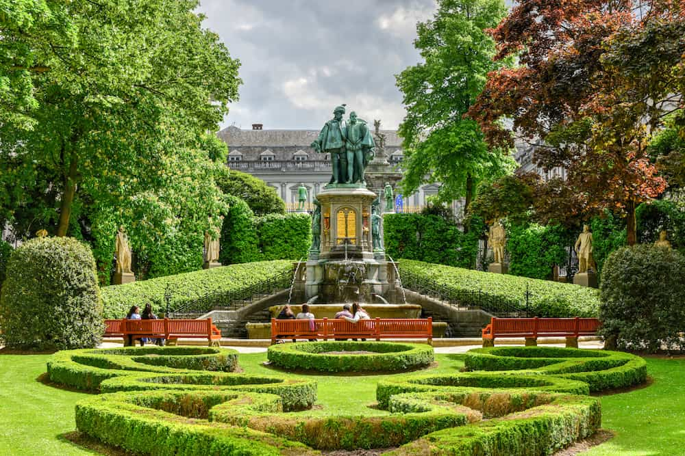Place du Petit Sablon park in Brussels Belgium