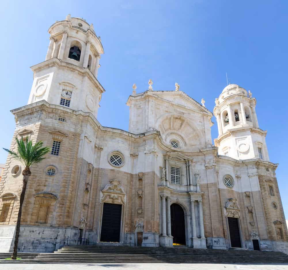 Detail of christian Cathedral of Santa Cruz in Cadiz, Andalucia, Spain