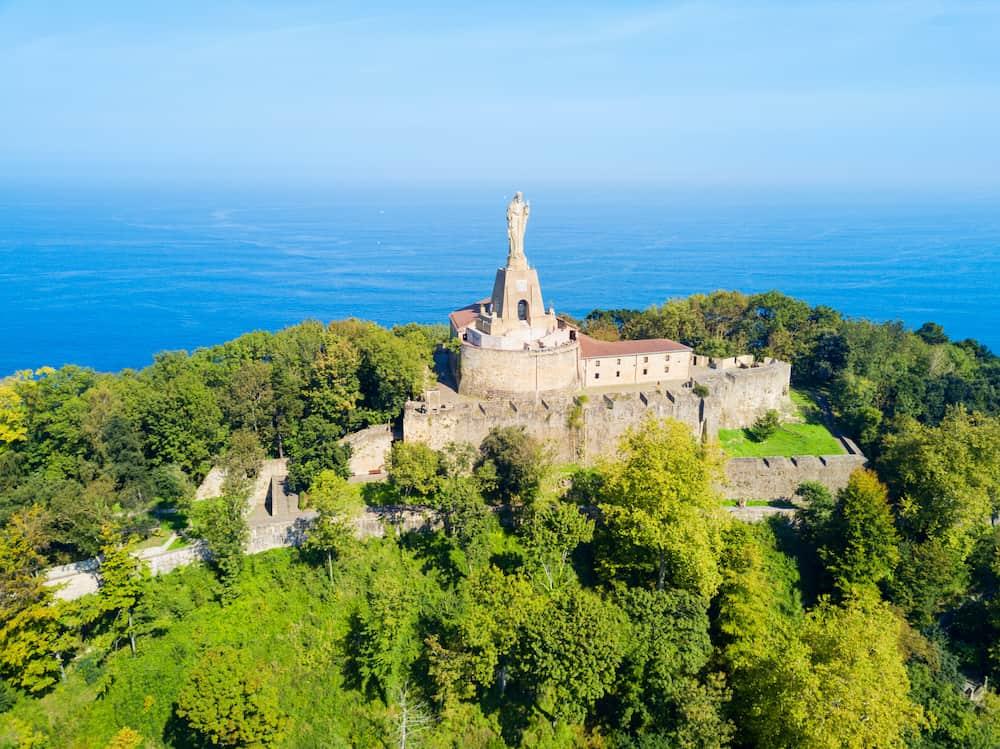 Mota Castle or Castillo de la Mota or Motako Gaztelua on Monte Urgull mountain in San Sebastian or Donostia city in Spain