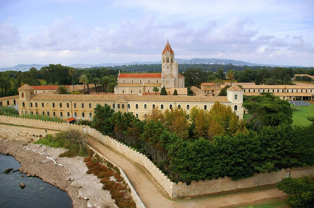 Landmark of southern France. French Riviera, the Lerins Islands : abbey Saint-Honorat