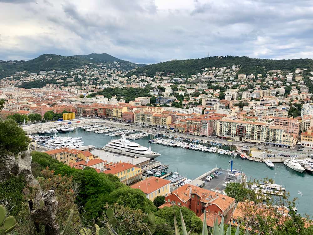 NICE, FRANCE - The view from the Parc du Chteau over the Port of Nice, South of France.