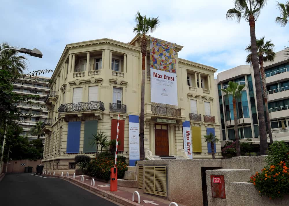 Cannes, France - View of the Centre d'art La Malmaison museum on the Boulevard de la Croisette in Cannes.