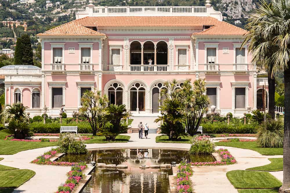 CAP FERRAT FRANCE - : Villa Ephrussi de Rothschild constructed between 1905 and 1912 at Saint-Jean-Cap-Ferrat on the French Riviera