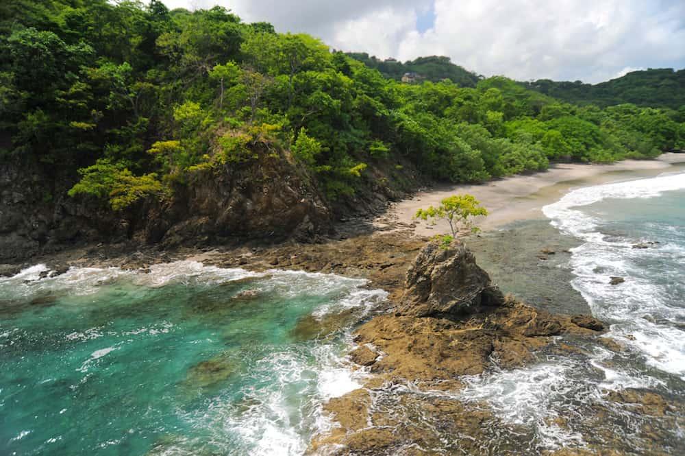 Aerial view of western Costa Rica seashore