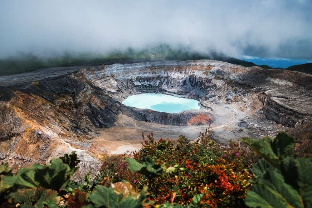Main active crater of the volcano of Poas. Costa Rica of Poas. Costa Rica