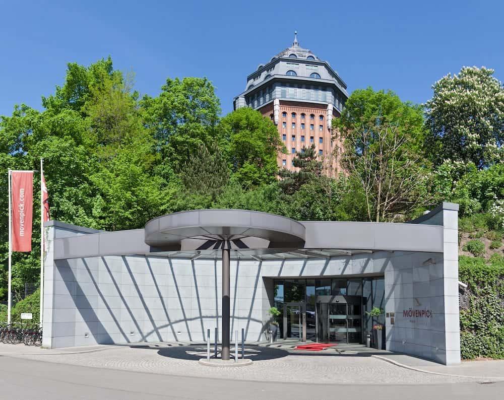 HAMBURG, GERMANY - hotel in the former water tower in schanzenpark
