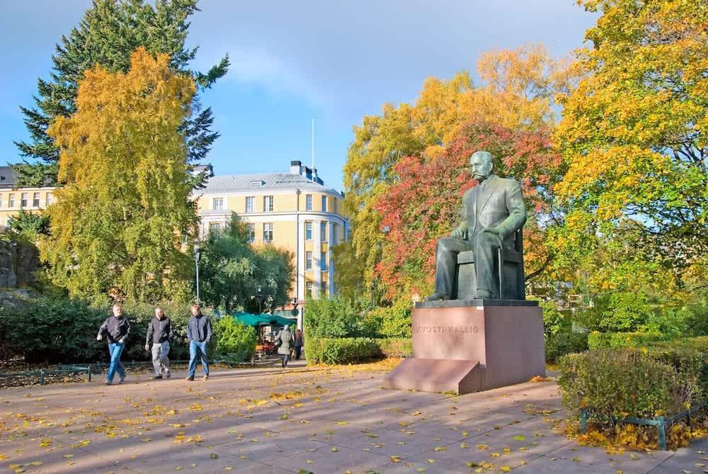 HELSINKI, FINLAND - : Kyosti Kallio Monument by Kalervo Kallio. Kyosti Kallio (1873-1940) was a politician, prime minister, president. The sculptor is the son of the president Kallio