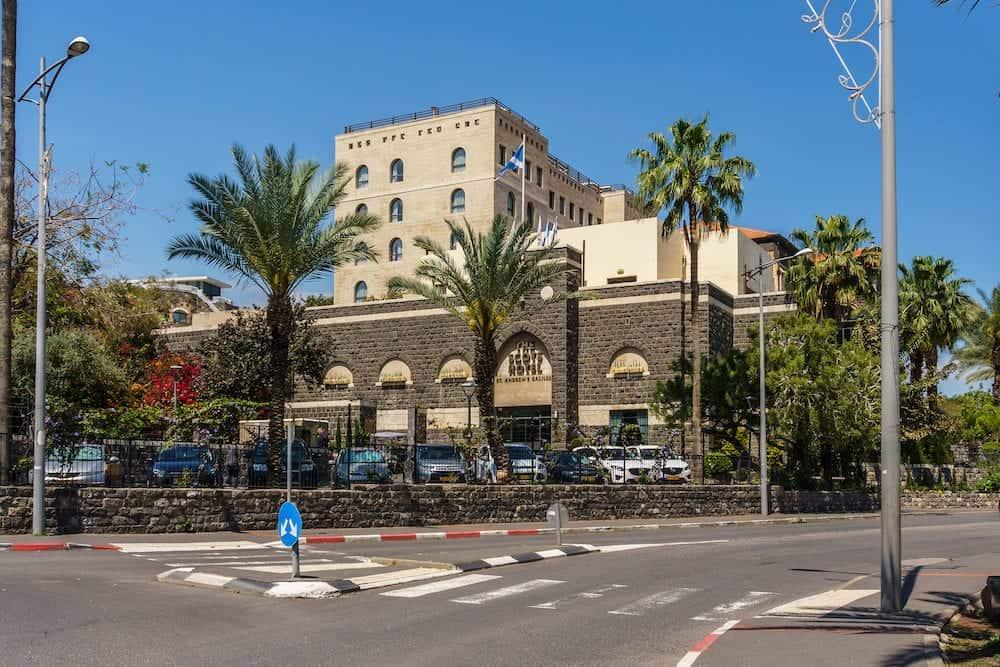 Tiberias, Israel - Street view in the old city of Tiberias Israel.