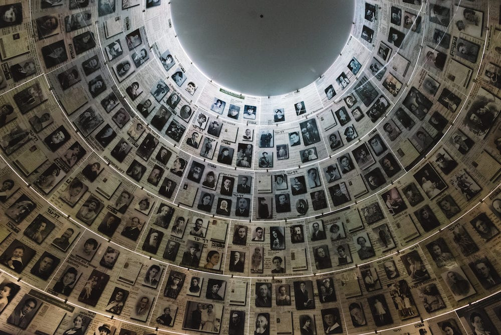 Jerusalem, Israel - The Hall of Names in the Yad Vashem Holocaust Memorial Site in Jerusalem, Israel, remembering some of the 6 million Jews murdered during World War II