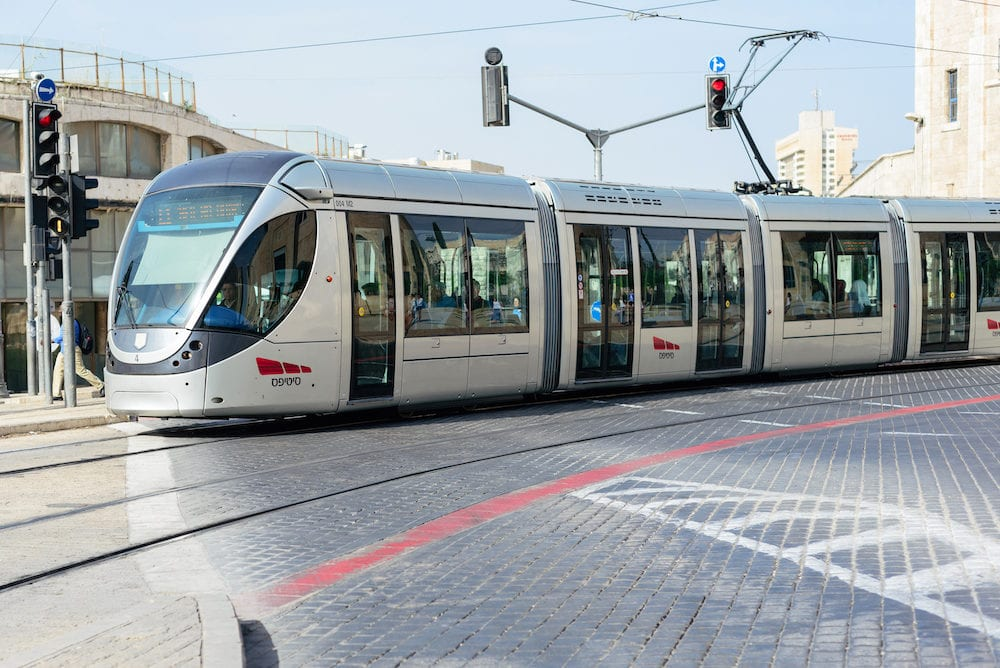 JERUSALEM ISRAEL - The Jerusalem Light Rail is a light rail system in Jerusalem. Currently the Red Line is the only one in operation the first of several light rail lines planned in Jerusalem