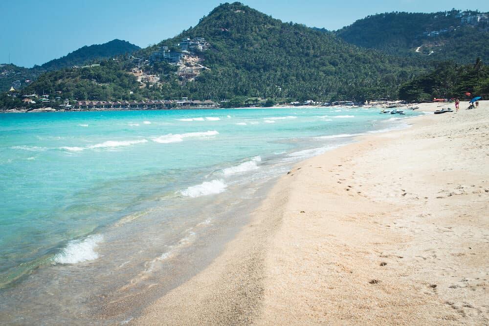 Blue Sea White sand beach Chaweng Beach, Koh Samui, Thailand