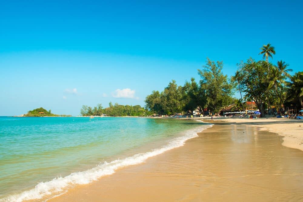 Tropical Choeng Mon Beach in the Koh Samui Island in Thailand
