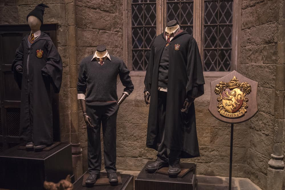 LEAVESDEN UK - Costumes and props at the Making of Harry Potter studio tour at the Warner Bros studios in Leavesden UK