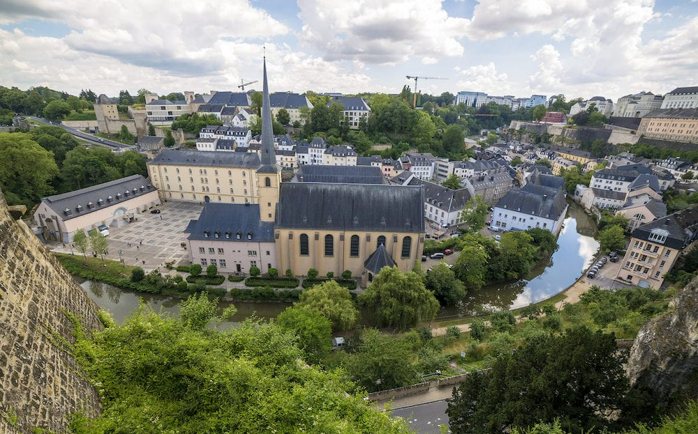 Luxembourg, Grand Duchy of Luxembourg - : Neumunster Abbey in the Lower City in Luxembourg
