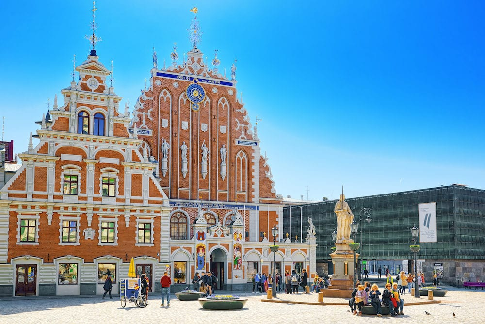 Riga, Latvia - Landscapes of the Old City of Riga, is central and historical part of Riga.