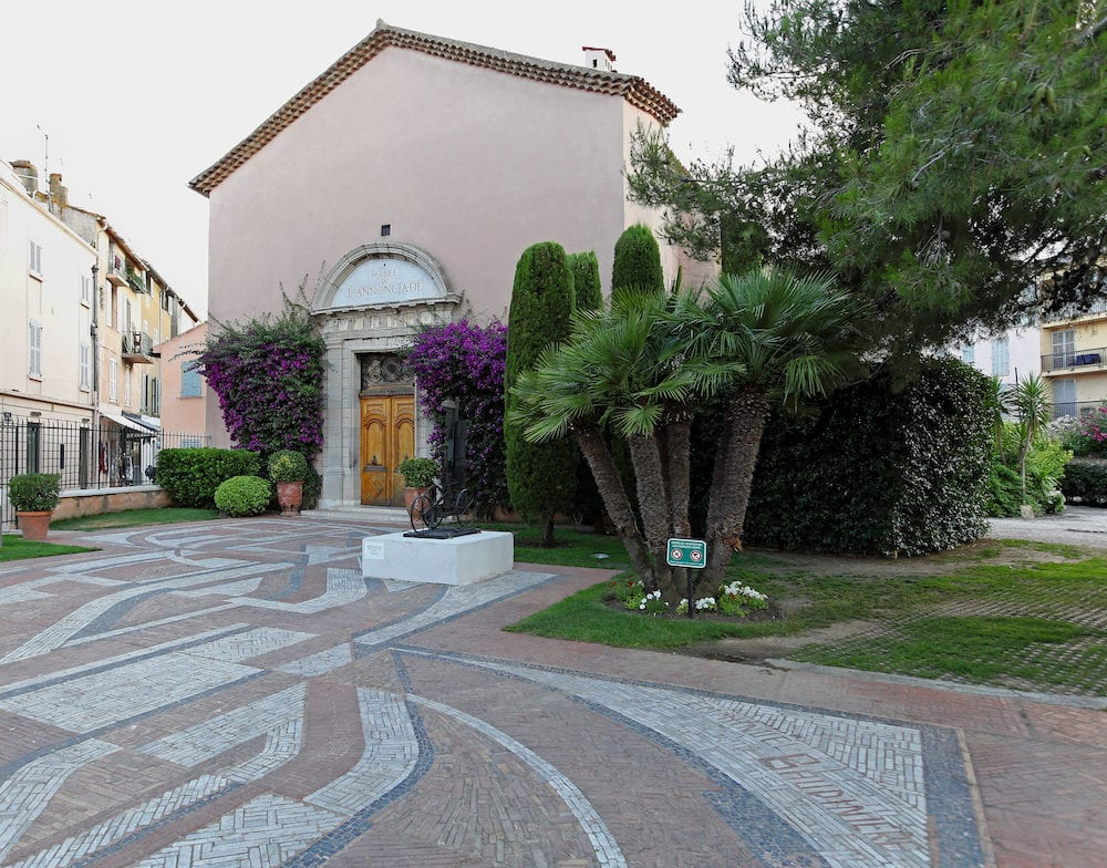 SAINT TROPEZ FRANCE : Art museum in Saint Tropez. Annonciade art and gallery in old church in Saint Tropez France.