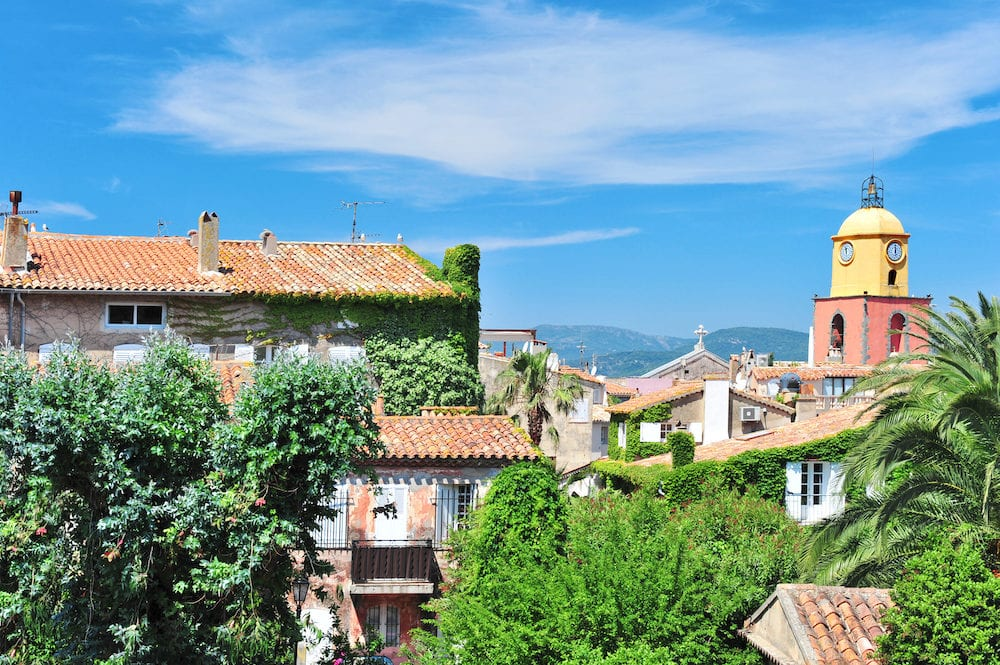 Landscape of Saint-Tropez, France Mediterranean Sea riviera