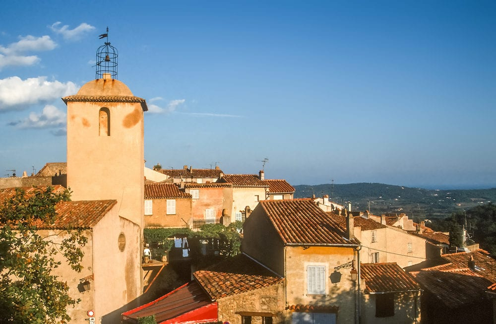 The village of Ramatuelle in the Bay of St. Tropez Cote Azur France