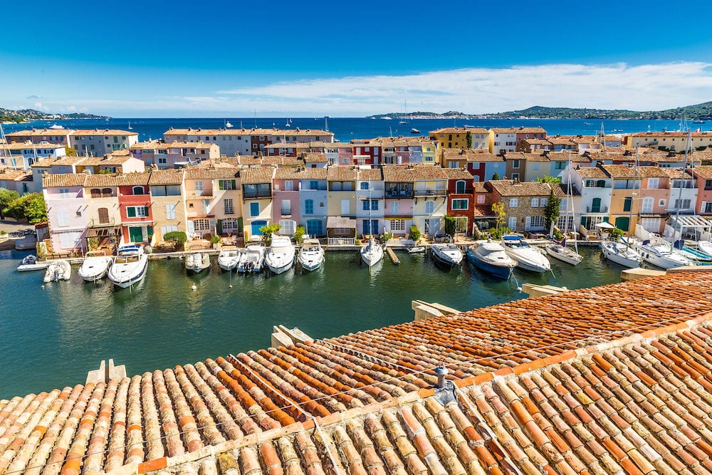 View Of Colorful Houses And Boats In Port Grimaud During Summer Day-Port Grimaud France
