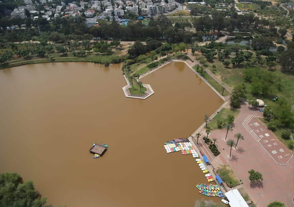 HaYarkon Park on the outskirts of Tel Aviv