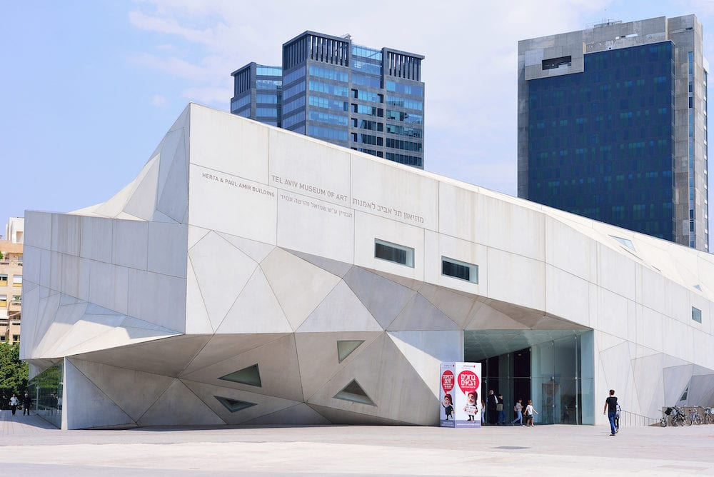 TEL AVIV ISRAEL - Architectural Style Origami. The new building of the Museum of Art in Tel Aviv.