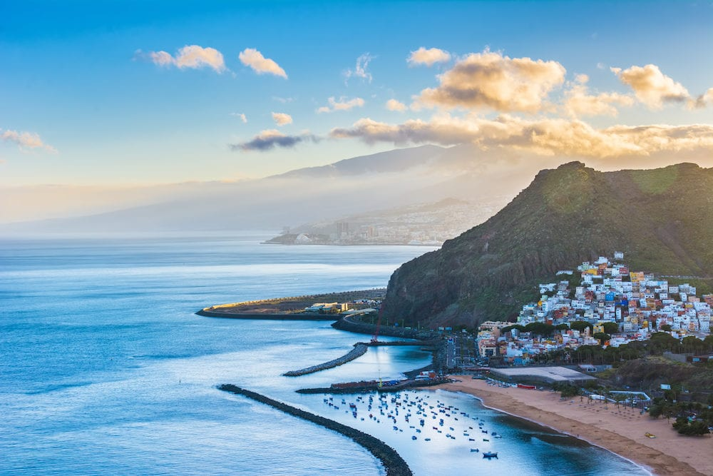 Beautiful view on San Andres near Santa Cruz de Tenerife in the north of Tenerife Canary Islands Spain.