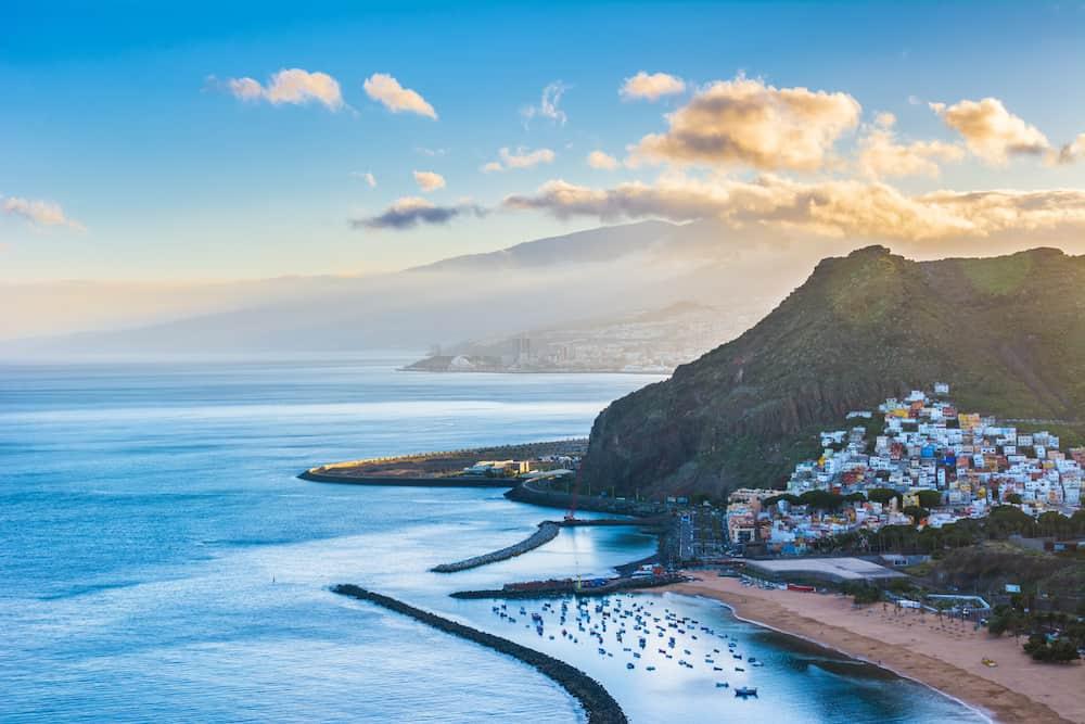 Beautiful view on San Andres near Santa Cruz de Tenerife in the north of Tenerife Canary Islands Spain.