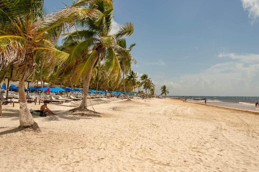 Tulum, Mexico - View of Playa Paraiso beach near Tulum.