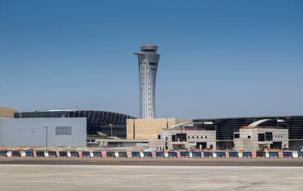 TEL AVIV ISRAEL - BEN GURION AIRPORT: The new Ben Gurion international airport control tower