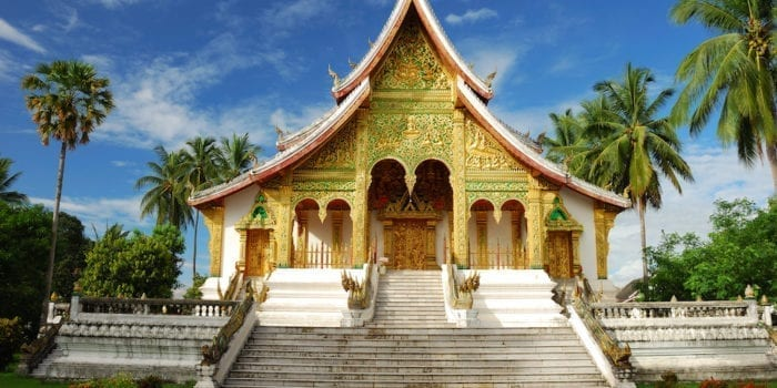 Temple in Luang Prabang Museum, Laos. There are made for store Buddha image call Prabang.