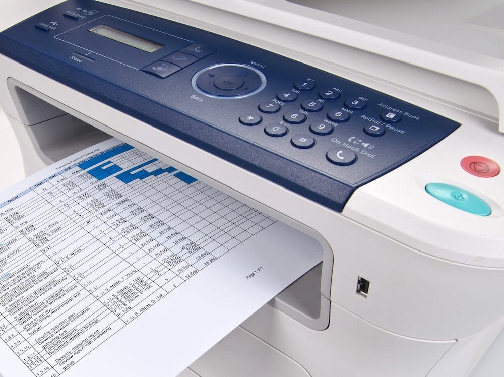 Printer fax machine print fax laser printer close up computer printer
