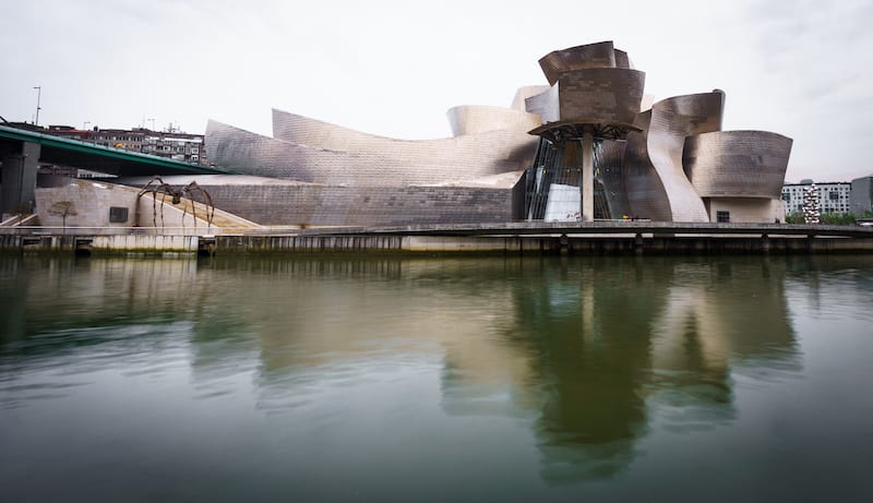 Guggenheim museum, Bilbao, - Guggenheim museum represents new era for the previously industry based city in Bilbao