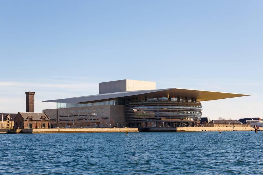 Copenhagen, Denmark- View of the Copenhagen Opera House. The national opera house of Denmark, the most modern opera houses in the world.