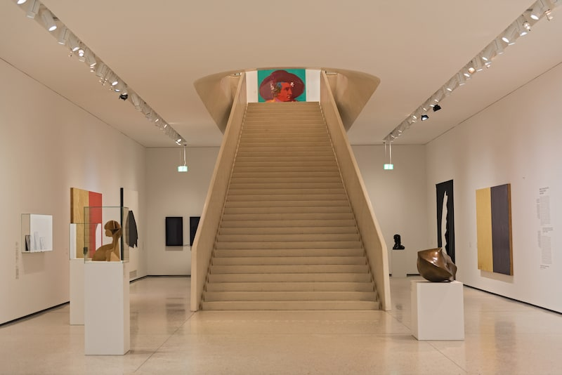RANKFURT, GERMANY-Interior of new contemporary art museum at Staedel museum in Frankfurt Germany