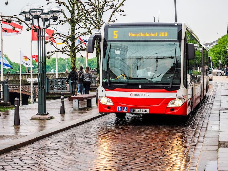 HAMBURG GERMANY - : Bus public transport hdr
