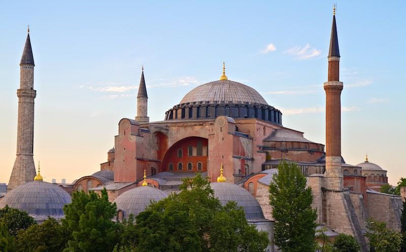 Famous Byzantine Church Hagia Sophia Istanbul Turkey