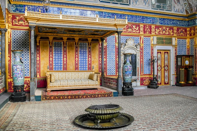 ISTANBUL, TURKEY - Interior of Topkapi palace in Istanbul