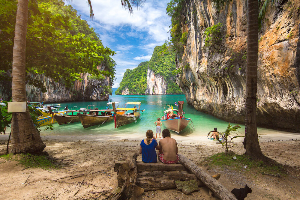 thailand beach at krabi in thailand summer season