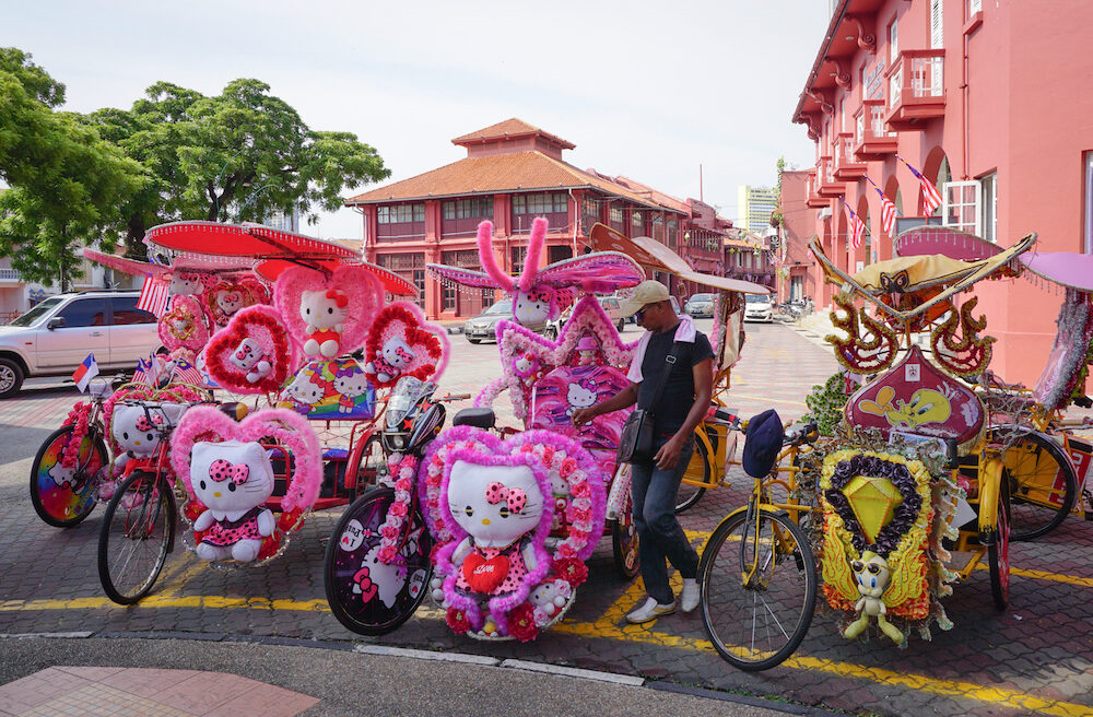 MALACCA MALAYSIA - Decorative trishaw at Malacca city in Malaysia. Malacca has been listed as a UNESCO World Heritage Site since 7 July 2008.