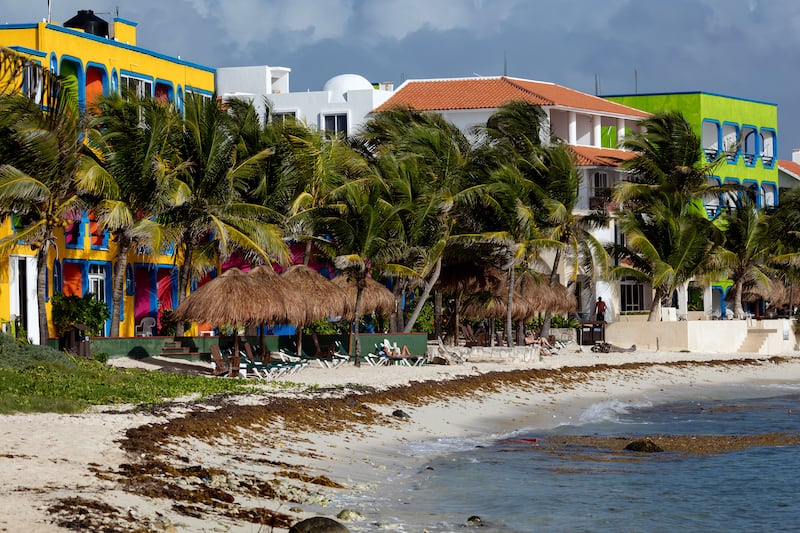 AKUMAL MEXICO - Hotels along the Akumal beach. Akumal is a small beach-front tourist resort community in Quintana Roo Mexico between the towns of Playa del Carmen and Tulum.