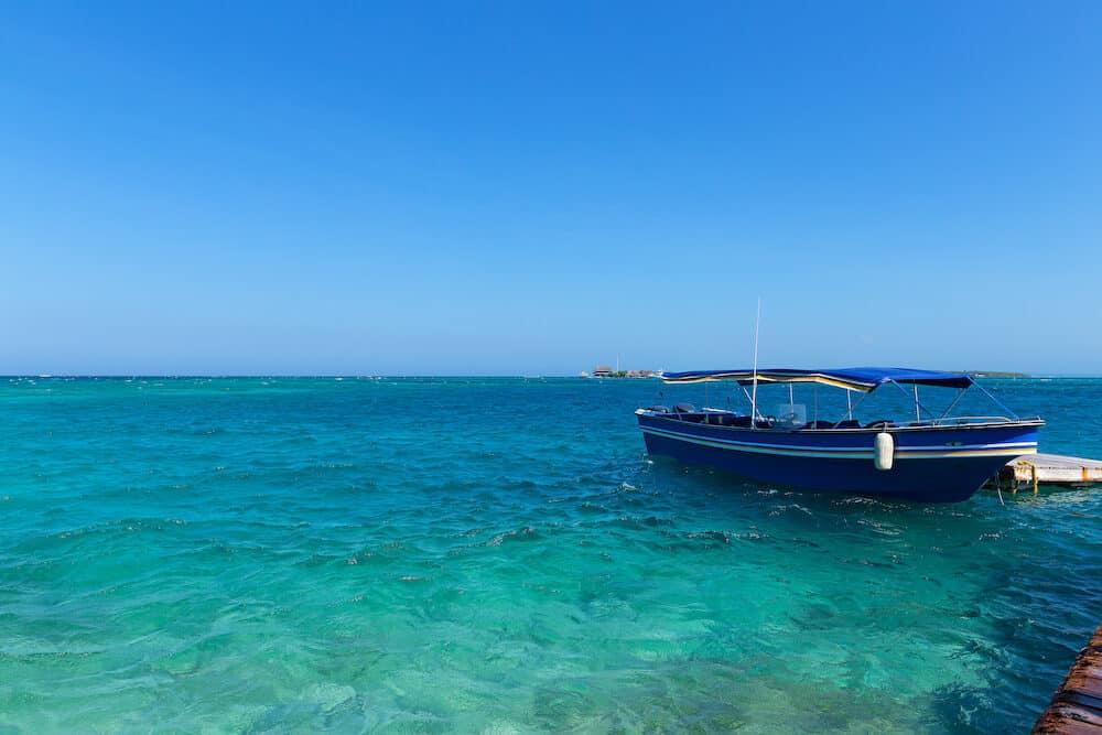 Del Rosario Islands archipelago known as coral islands.