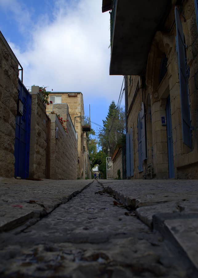 Jerusalem street in Musrara area, near the Old city