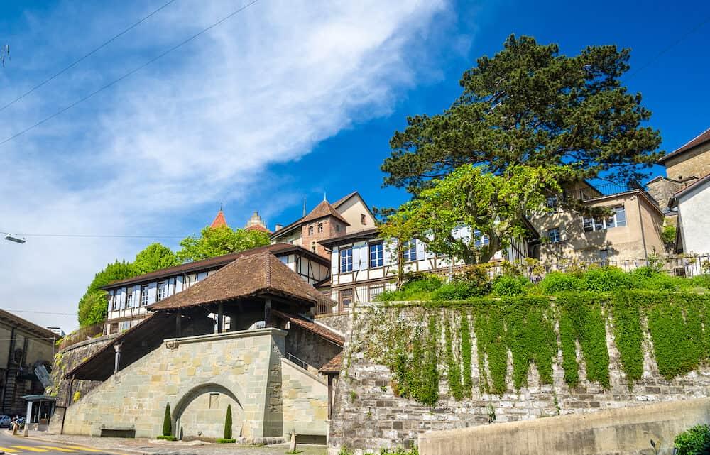 La Cite the historic centre of Lausanne Switzerland